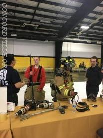 Nick Clark and Mattao Bertino explain today's fire service equipment and  structural fire fighting turn out gear.