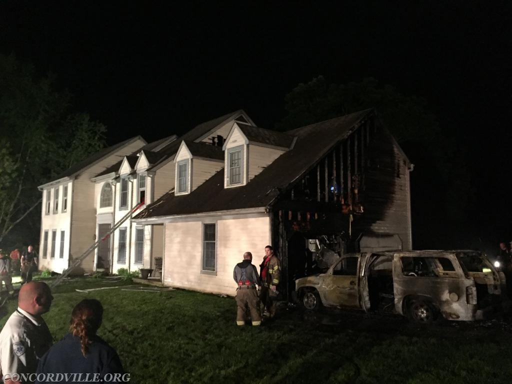 59 crews assisted with overhaul of the home assisting West Chester Fire Department