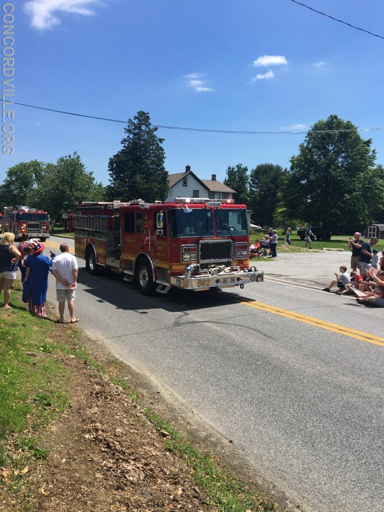 Engine 592 in second parade