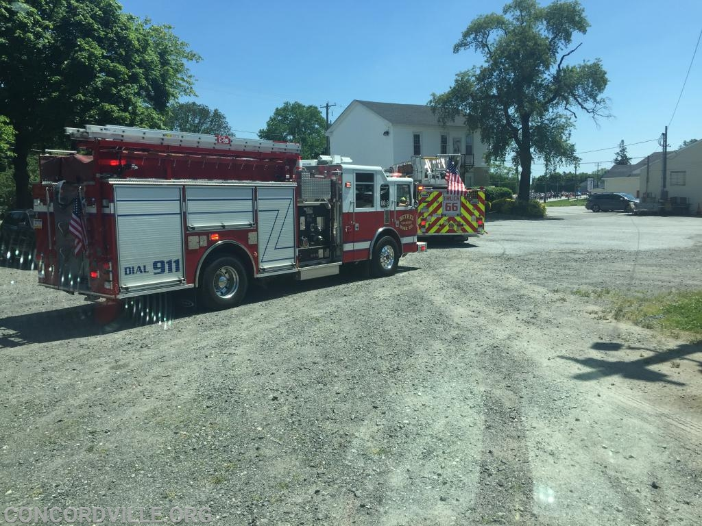 Squad 66 following Truck 66 in second parade