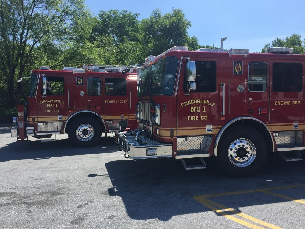 Tower Ladder 59 and Engine 592